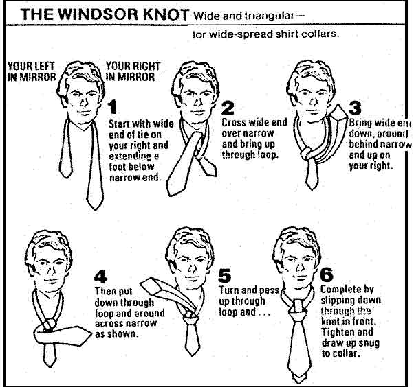 How To Tie A Windsor Knot Tie Fighter